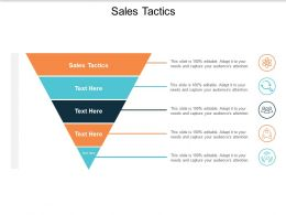Sales Tactics Ppt Powerpoint Presentation Layouts Graphics Cpb