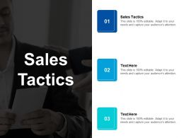 Sales Tactics Ppt Powerpoint Presentation Portfolio Tips Cpb