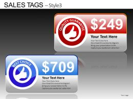 Sales Tags Style 3 Powerpoint Presentation Slides DB