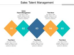 Sales Talent Management Ppt Powerpoint Presentation Gallery Tips Cpb
