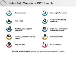 Sales Talk Questions Ppt Sample