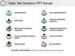 Sales Talk Questions Ppt Sample