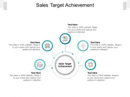 Sales Target Achievement Ppt Powerpoint Presentation Show Graphic Images Cpb