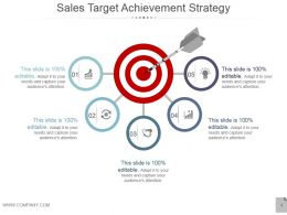 Sales Target Achievement Strategy Powerpoint Themes
