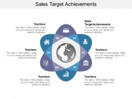 Sales Target Achievements Ppt Powerpoint Presentation Slides Grid Cpb
