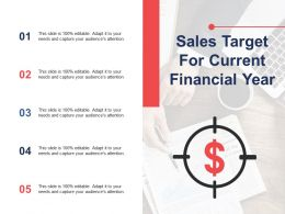 Sales Target For Current Financial Year Ppt Layouts