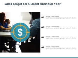 Sales Target For Current Financial Year Sales Performance