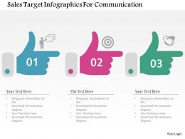 Sales Target Infographics For Communication Flat Powerpoint Design