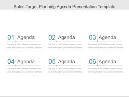 Sales Target Planning Agenda Presentation Template