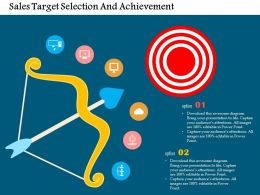 Sales Target Selection And Achievement Flat Powerpoint Design