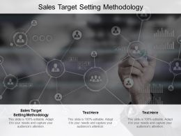 Sales Target Setting Methodology Ppt Powerpoint Presentation Infographic Cpb