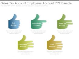 Sales Tax Account Employees Account Ppt Sample
