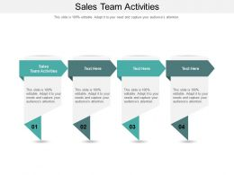 Sales Team Activities Ppt Powerpoint Presentation Outline Infographics Cpb
