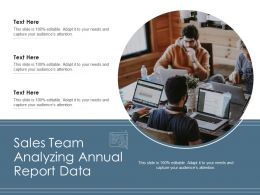 Sales Team Analyzing Annual Report Data