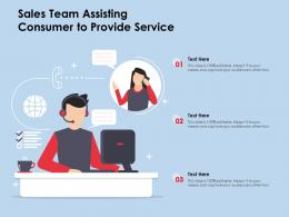 Sales Team Assisting Consumer To Provide Service