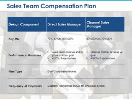 Sales Team Compensation Plan Design Component Pay Mix