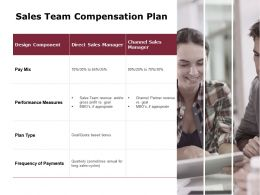 Sales Team Compensation Plan Frequency Of Payments Ppt Powerpoint Presentation Gallery Layout Ideas