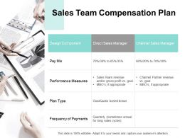 Sales Team Compensation Plan Performance Measures B312 Ppt Powerpoint Presentation