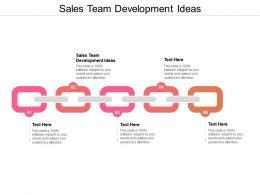 Sales Team Development Ideas Ppt Powerpoint Presentation Gallery Template