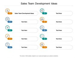 Sales Team Development Ideas Ppt Powerpoint Presentation Pictures Images Cpb