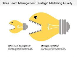 Sales Team Management Strategic Marketing Quality Management Techniques