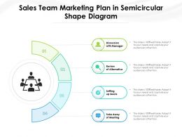 Sales Team Marketing Plan In Semicircular Shape Diagram