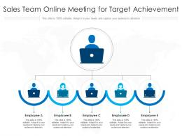 Sales Team Online Meeting For Target Achievement