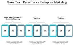 Sales Team Performance Enterprise Marketing Ppt Powerpoint Presentation Portfolio Format Ideas Cpb