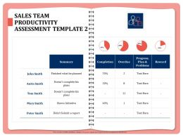 Sales Team Productivity Assessment Template Overdue Ppt Powerpoint Presentation Master Slide