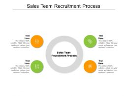 Sales Team Recruitment Process Ppt Powerpoint Presentation Styles Graphics Cpb