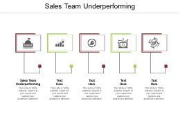 Sales Team Underperforming Ppt Powerpoint Presentation Portfolio Pictures Cpb