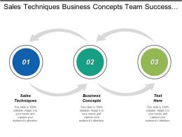 Sales Techniques Business Concepts Team Success Training Development