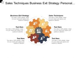 Sales Techniques Business Exit Strategy Personal Growth Development