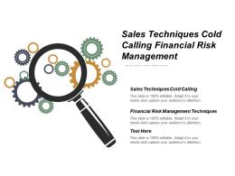 Sales Techniques Cold Calling Financial Risk Management Techniques Cpb