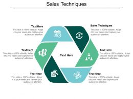 Sales Techniques Ppt Powerpoint Presentation Styles Designs Download Cpb