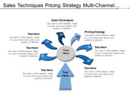 Sales Techniques Pricing Strategy Multi-Channel Management Brand Marketing Cpb
