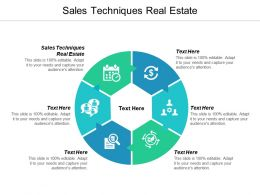 Sales Techniques Real Estate Ppt Powerpoint Presentation Ideas Visual Aids Cpb