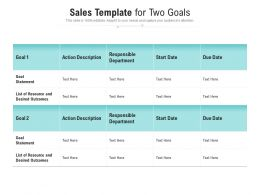 Sales Template For Two Goals