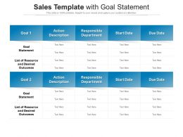 Sales Template With Goal Statement