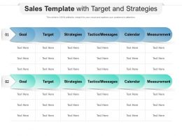 Sales Template With Target And Strategies