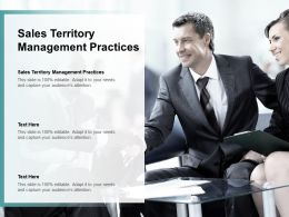 Sales Territory Management Practices Ppt Powerpoint Presentation Model Aids Cpb
