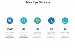 Sales Tips Success Ppt Powerpoint Presentation File Outline Cpb