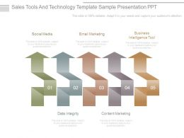 Sales Tools And Technology Template Sample Presentation Ppt
