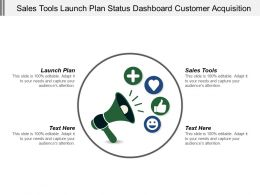 Sales Tools Launch Plan Status Dashboard Customer Acquisition