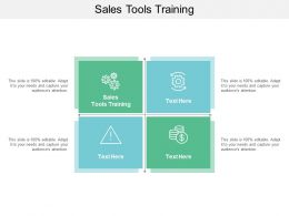 Sales Tools Training Ppt Powerpoint Presentation Infographics Deck Cpb