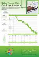Sales Tracker Plan One Page Summary Presentation Report Infographic PPT PDF Document