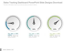 Sales Tracking Dashboard Powerpoint Slide Designs Download