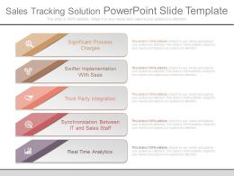 Sales Tracking Solution Powerpoint Slide Template