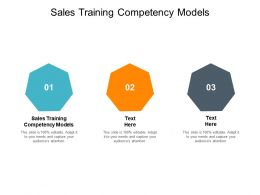 Sales Training Competency Models Ppt Powerpoint Presentation Professional Slide Cpb