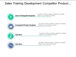 Sales Training Development Competitor Product Analysis Economic Projections Cpb